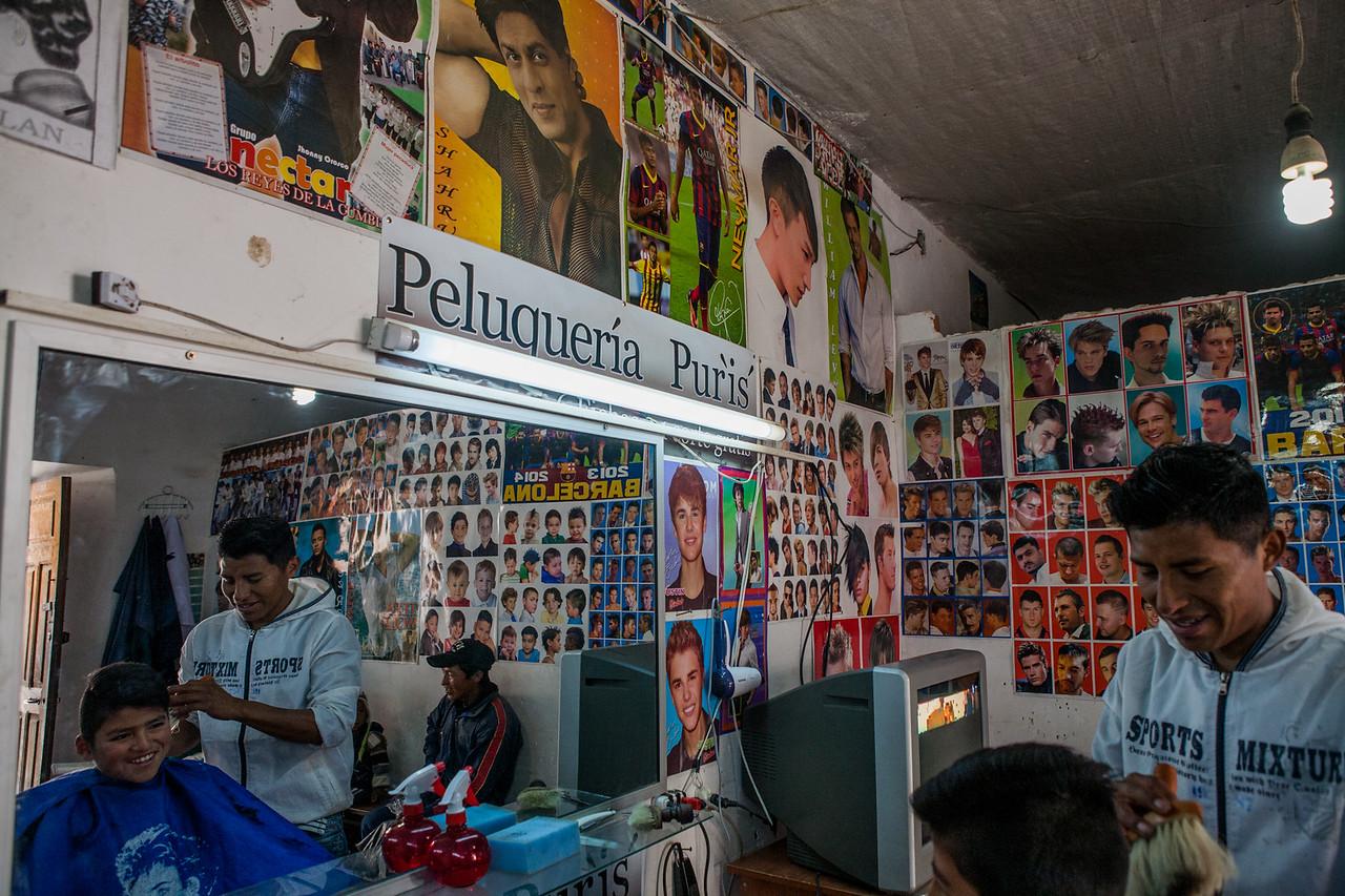 Shahrukh Khan adorns the walls in Tarabuco near Sucre, Bolivia