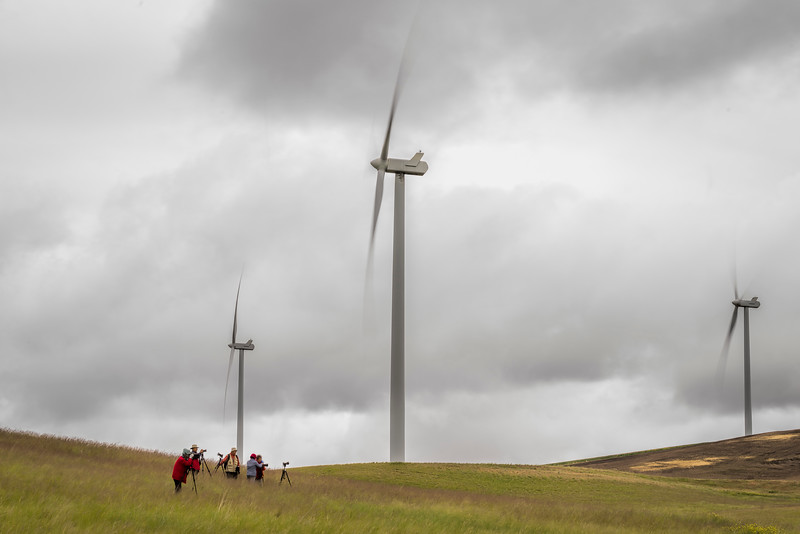 Photographers at the Wind Farm
