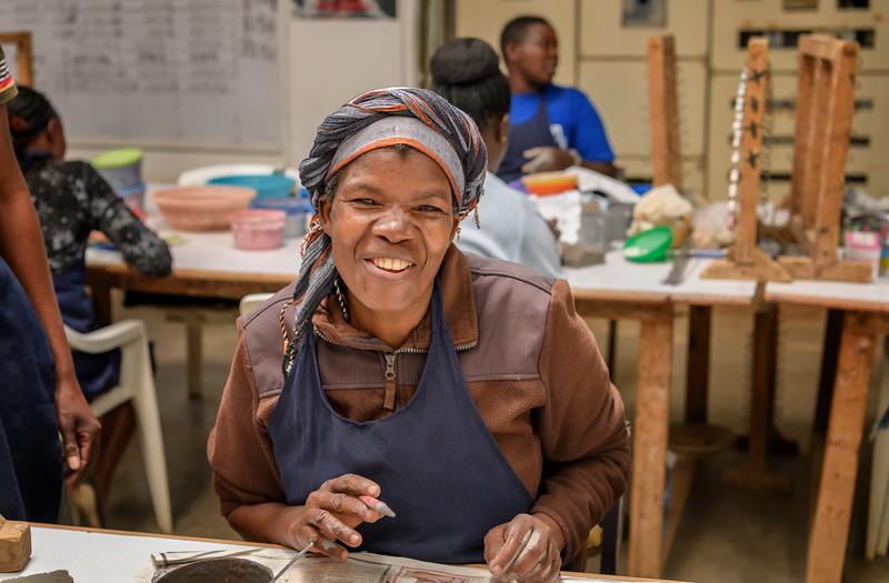 Worker at the Kazuri Bead Factory, Nairobi, Kenya, East Africa