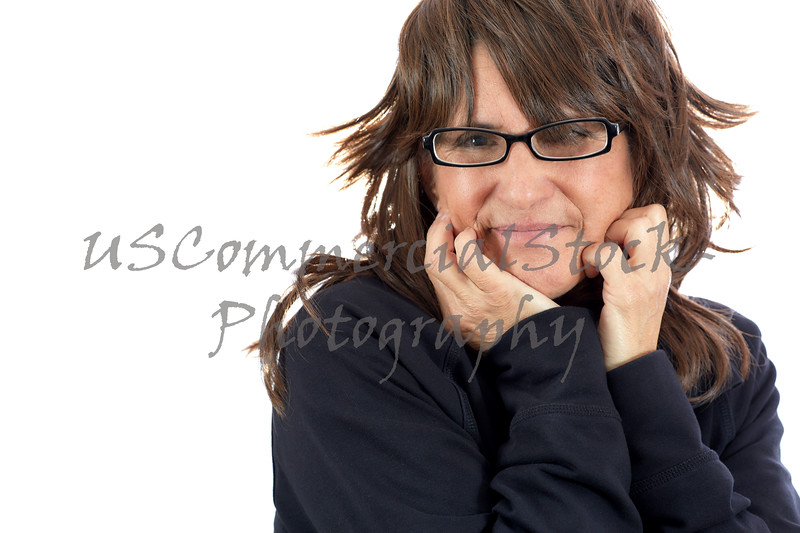 Middle Aged Woman with Brown Hair