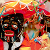 Masked men. Carnival dancers in Bolivia.