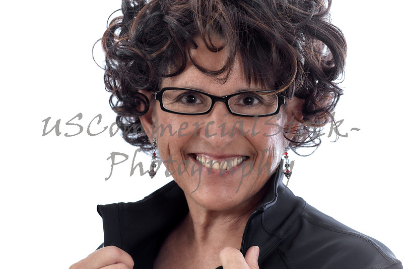 Middle Aged Woman wearing Eyeglasses Smiling
