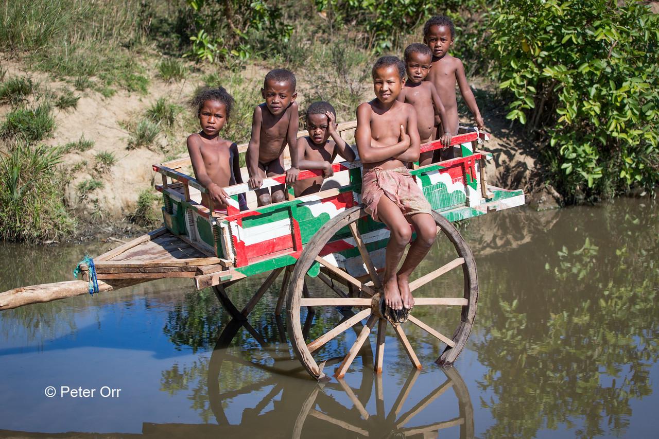 Children on a Farm Cart