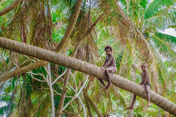 Vanuatu, Tanna, Port Resolution, Kids in Coconuts