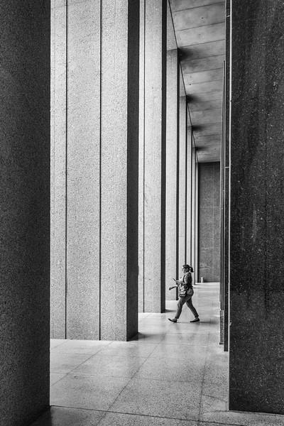 Walker and pillars.
