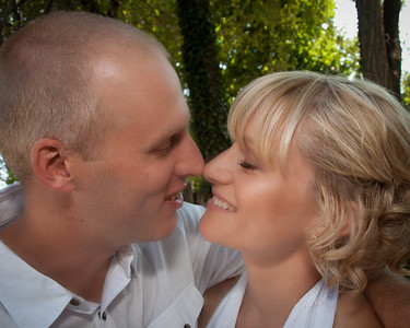 Meet Mark and Trish. This is their big kiss at their wedding in August. Trish tells me this is her favourite.