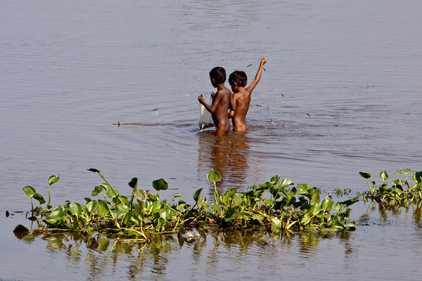 Fishing boys, Assam