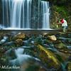 Adult Male Flyfishing at Hogg's Falls, Flesherton, Ontario, Canada