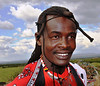 Massai Warrior With Braids