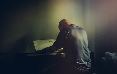 Man on Piano