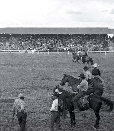 1930s rodeo. Possibly Monte Vista, Colorado.