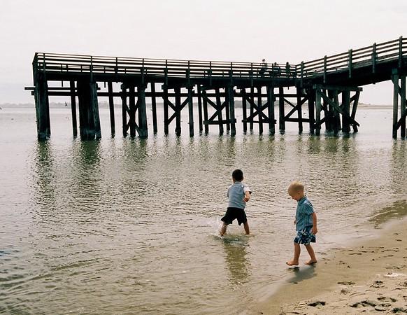 Boys & Pier.