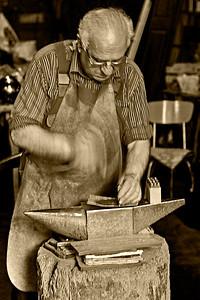 Master Coppersmith Cesare Mazzetti in Montepulciano