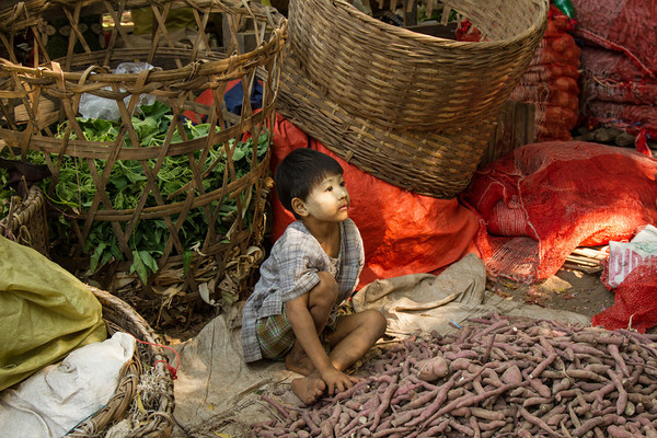 Young market seller, Myanmar
