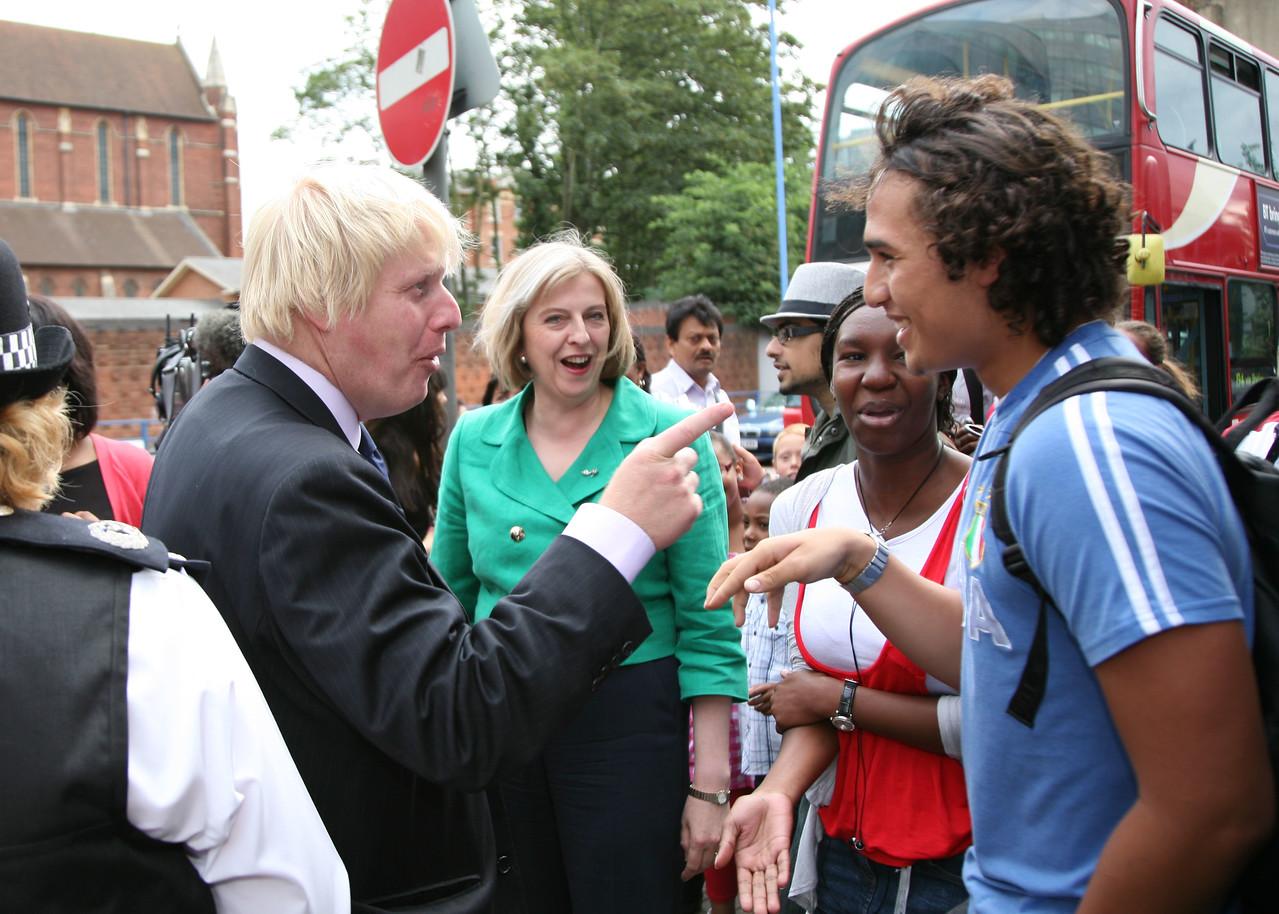 Boris Johnson & Theresa May walkabout