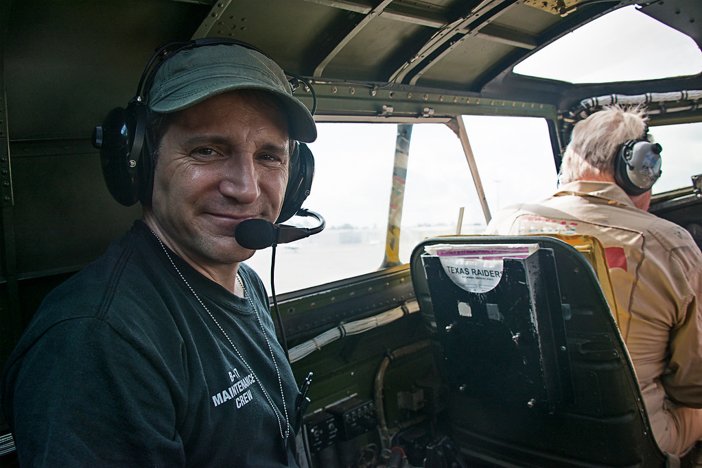 Maintenance Crew Chief on B 17 on B-17 bomber named Liberty Belle,