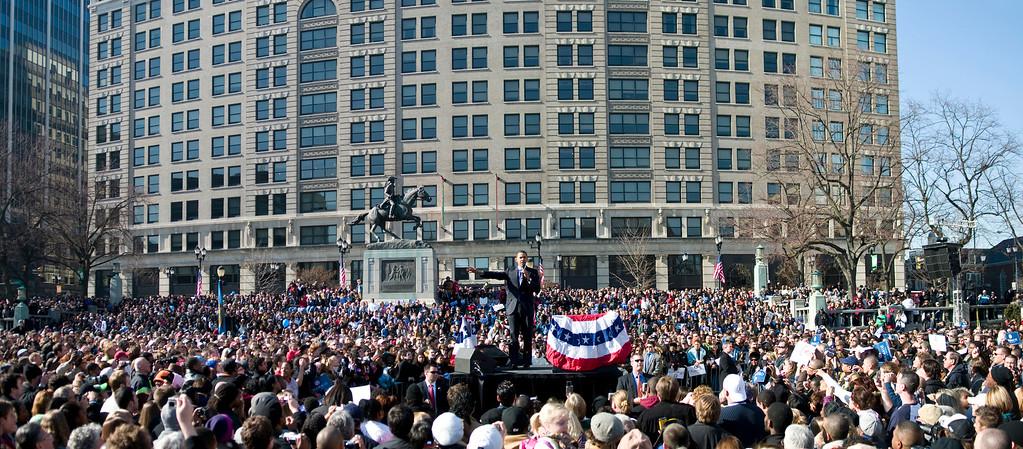 President Obama, Rodney Square, 2009