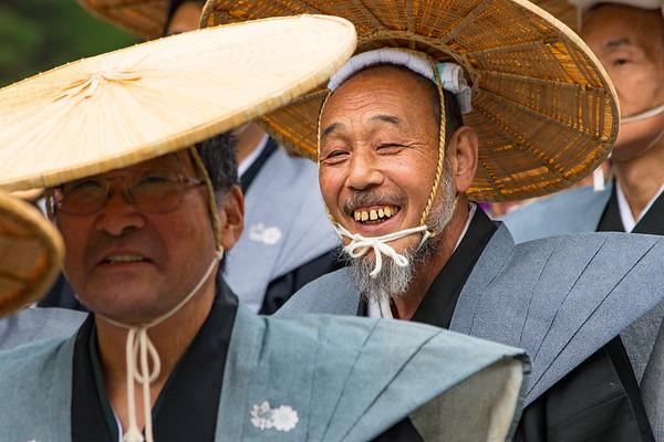 Smiling Man -  Jidai Matsuri Parade - Kyoto, Japan