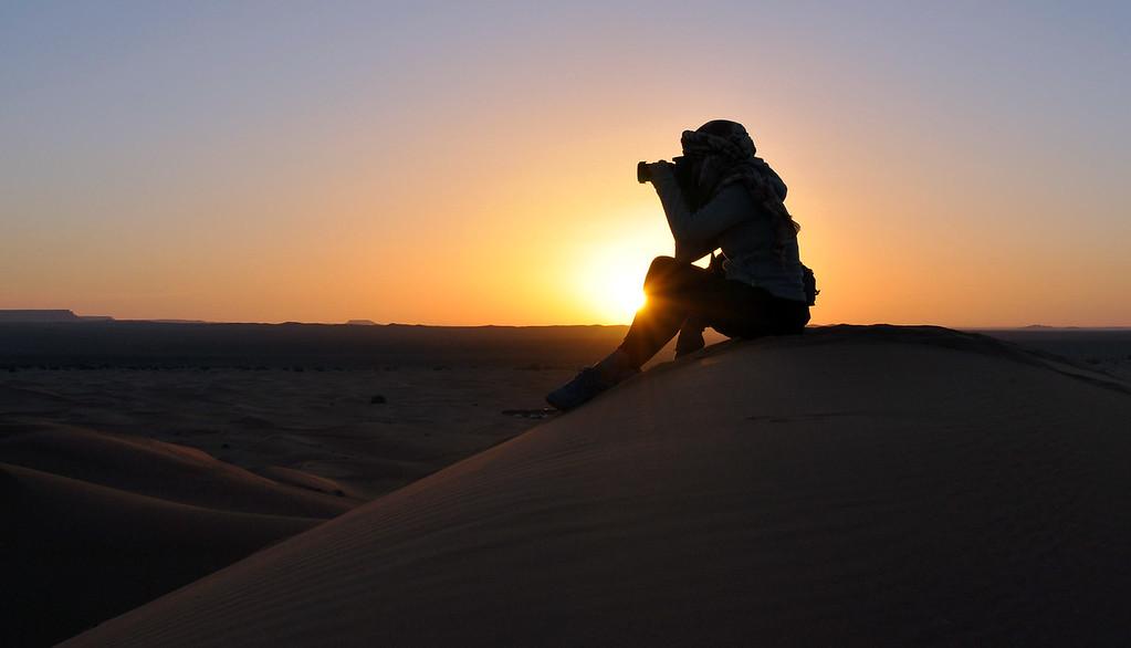 Sunrise over the Sahara