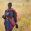Masai Woman in Grass, Kenya
