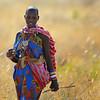 Masai Woman in Grass, Kenya