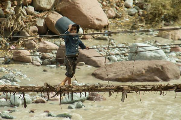 Fetching water, Atlas Mountains