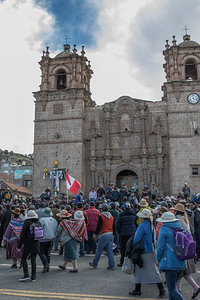 Quinoa workers protest in Puno, Peru for better wages.