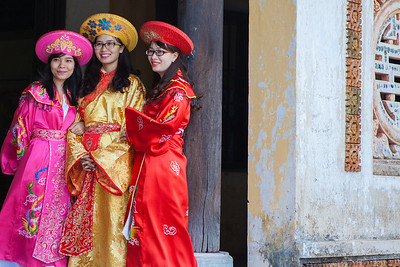 Girls in imperial costume, Hue Vietnam
