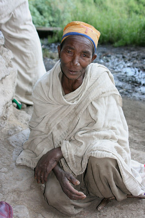 Elderly Ethiopian nun