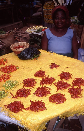 Peppers at the Market, Ghana