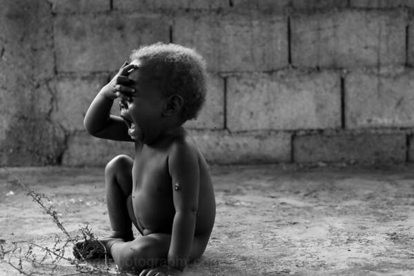 Vanuatu, Tanna, Middle Bush, Lounahuru, Baby Crying