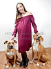 Pregnant Woman with Two Dogs