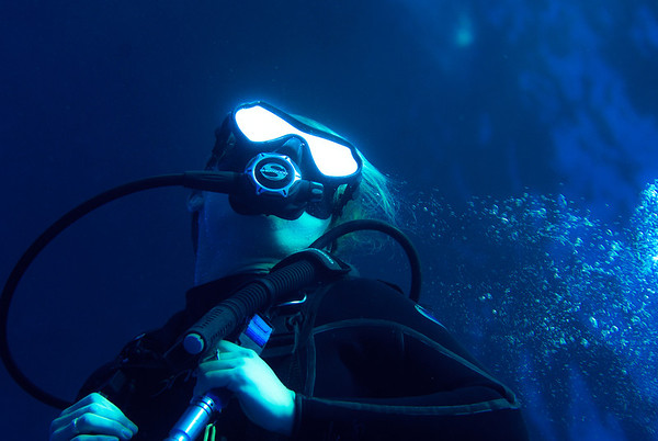 Diver with X-ray vision