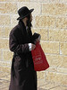 Man With Red Bag, Old City, Jerusalem, Israel