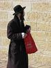 Man With Red Bag, Old City, Jerusalem, Israel