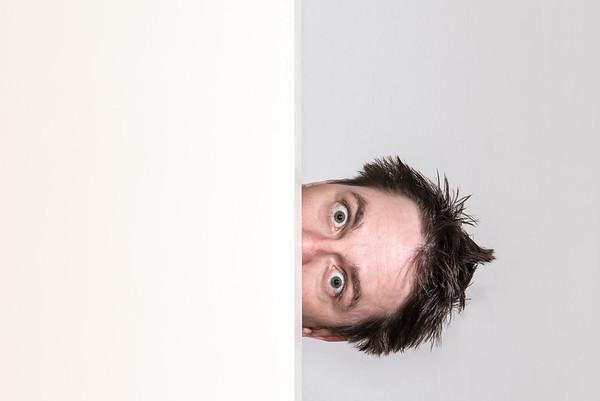 Close Up: self portrait of a sick man