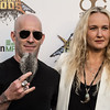 Scott Ian and Pearl Aday at the Revolver Golden Gods 2014