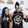 Arch Enemy's Alissa White-Gluz and Doyle Wolfgang von Frankenstein at the Revolver Golden Gods 2014