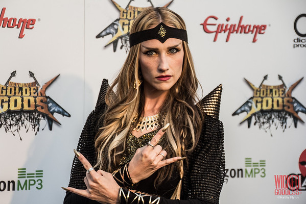 Huntress' Jill Janus at the Revolver Golden Gods 2014