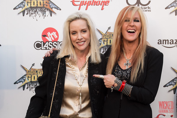 Runaways' Cherie Currie and Lita Ford at the Revolver Golden Gods 2014
