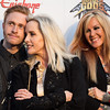 Cherie Currie with her son, Jake Hays, and Lita Ford at the Revolver Golden Gods 2014