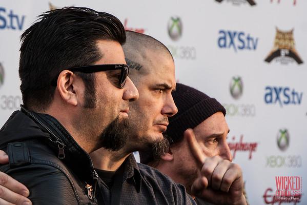 Chino Moreno and Phil Anselmo