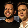 Tom Hiddleston and Zachary Levi at Nerd HQ, SDCC '13