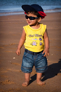 Little Shahrukh Khan at Ramsgate beach, England
