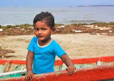 A little girl at Fort Kochi, Kerala, India