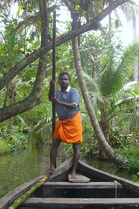 Guide at Mundro Island, Kerala