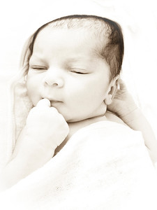 Nina, my little princess, one day old!