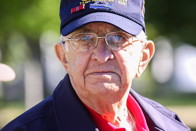 Veteran being honored at the WWII Memorial in D.C.