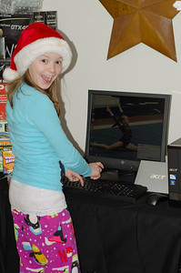 Mary and her new computer.