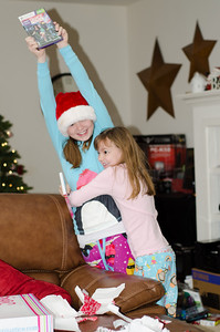 Mary thrilled to get a new dance game for the Kinect.